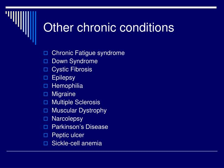Other chronic conditions