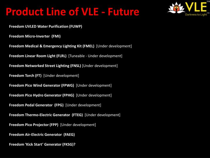 Product Line of VLE - Future