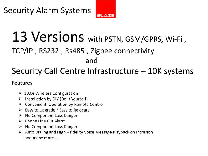 Security Alarm Systems