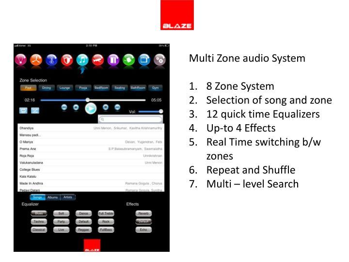 Multi Zone audio System