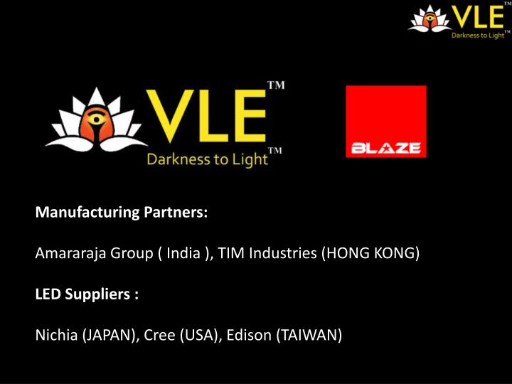 Manufacturing Partners:
