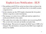 explicit loss notification eln