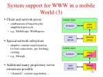 system support for www in a mobile world 3