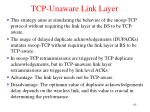 tcp unaware link layer