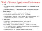 wae wireless application environment