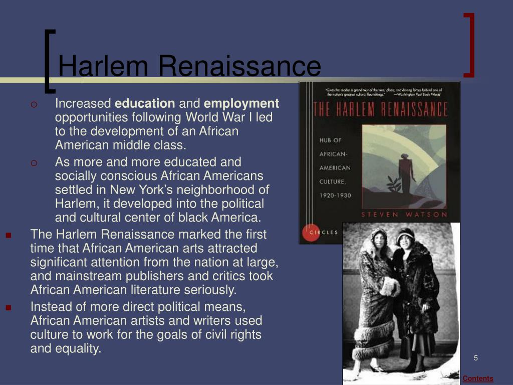 the rise of radical african american intellectuals during the harlem renaissance One of the main features of the harlem renaissance is the introduction of great literary works from african-american authors several authors, including langston hughes and zora neale hurston, produced historically significant works during the harlem renaissance the year 1919, which marked the beginning of the harlem.