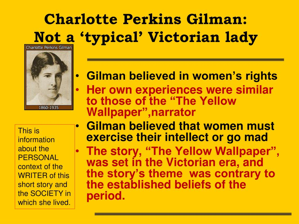 Ppt The Yellow Wallpaper By Charlotte Perkins Gilman Powerpoint Presentation Id 1434542