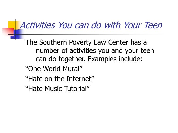 Activities You can do with Your Teen