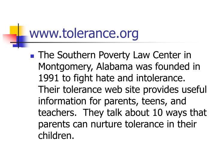 Www tolerance org