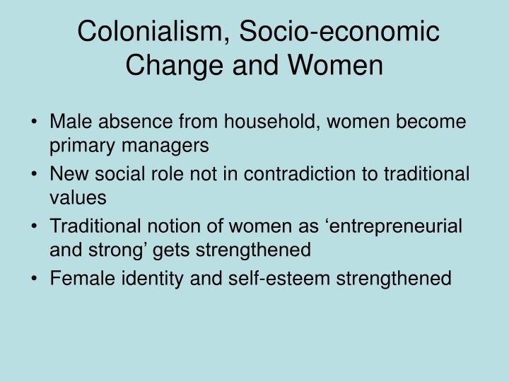 Colonialism, Socio-economic Change and Women
