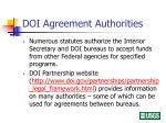 doi agreement authorities