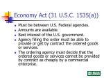 economy act 31 u s c 1535 a