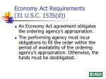 economy act requirements 31 u s c 1535 d