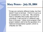 mary peters july 29 2004