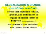 globalization is change