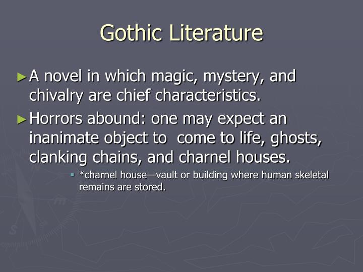 an analysis of gothic literature Free essay: in the history of literature, there have always been different themes and genres of writing but few have been as different or unique as that of.