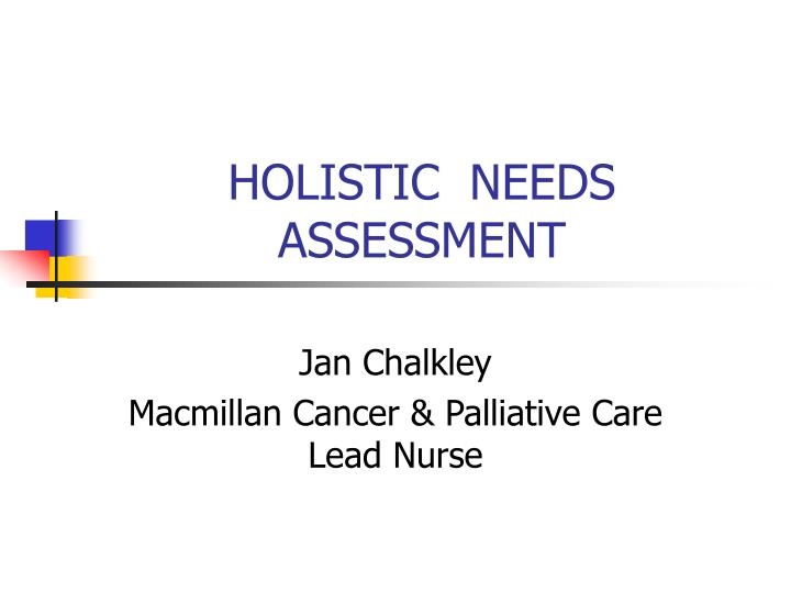 holistic needs assessment n.