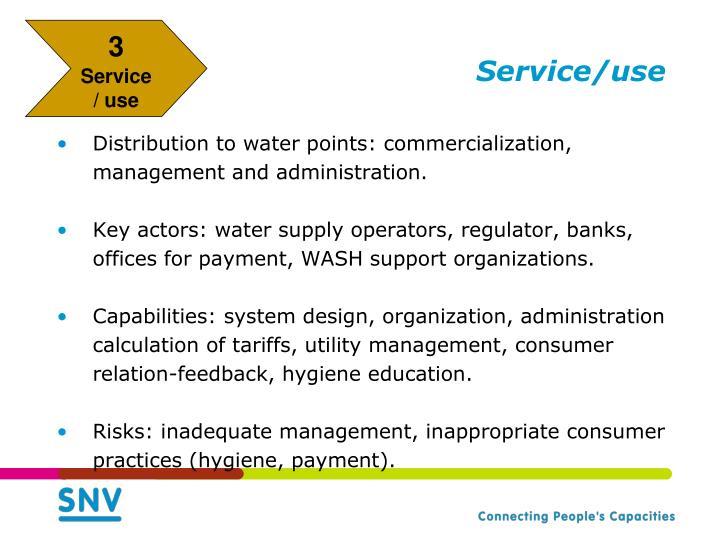 Service/use