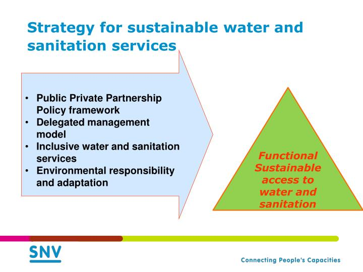 Strategy for sustainable water and sanitation services