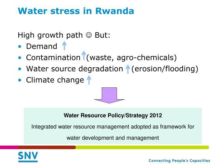 Water stress in rwanda