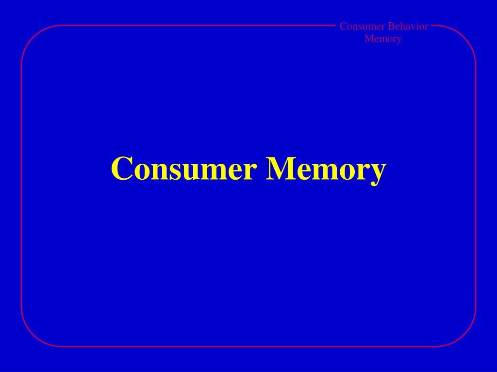consumer memory l.
