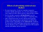 effects of advertising retrieval cues keller