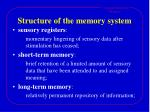 structure of the memory system