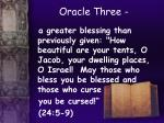 oracle three
