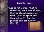 oracle two