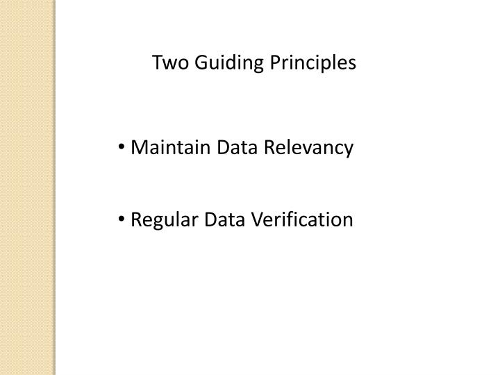 Two Guiding Principles