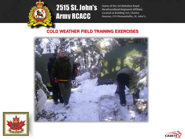 COLD WEATHER FIELD TRAINING EXERCISES