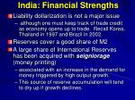 india financial strengths