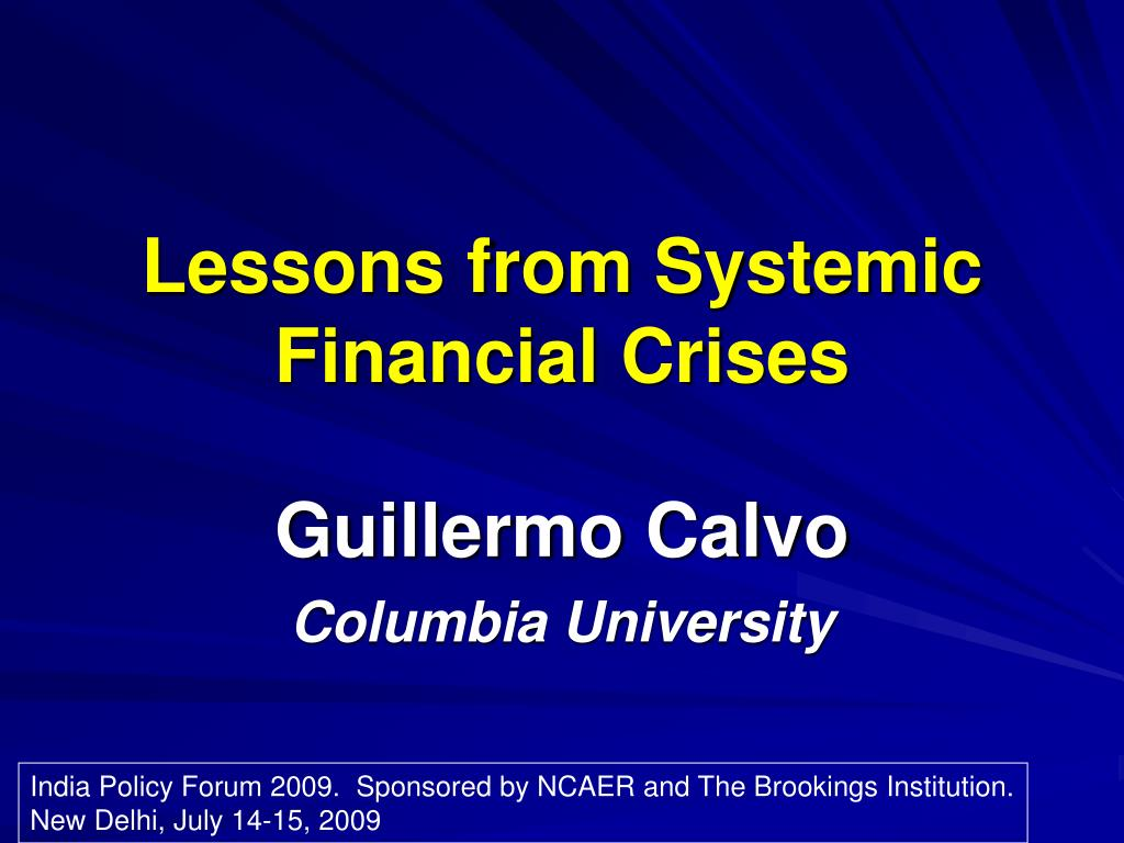 lessons from systemic financial crises l.
