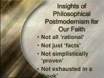 insights of philosophical postmodernism for our faith