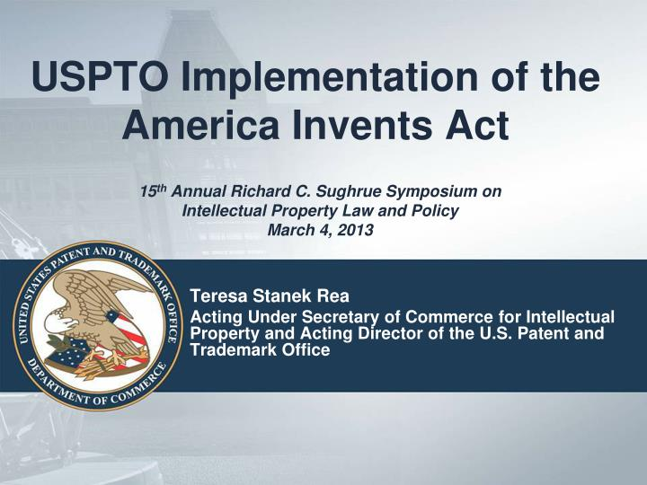 uspto implementation of the america invents act n.