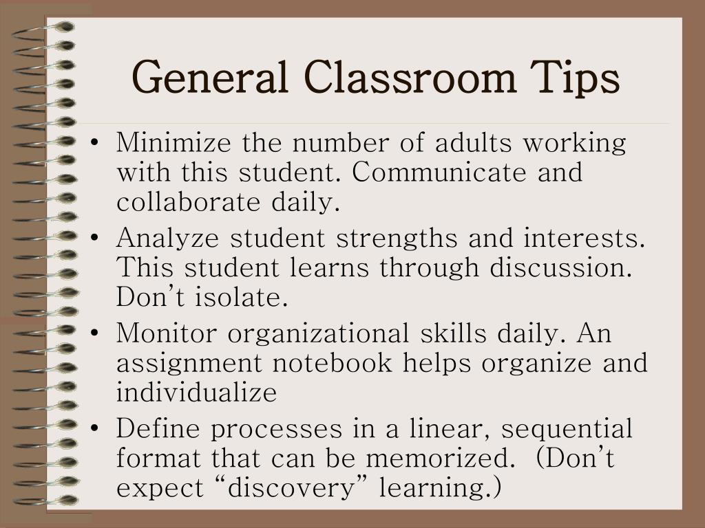 General Classroom Tips