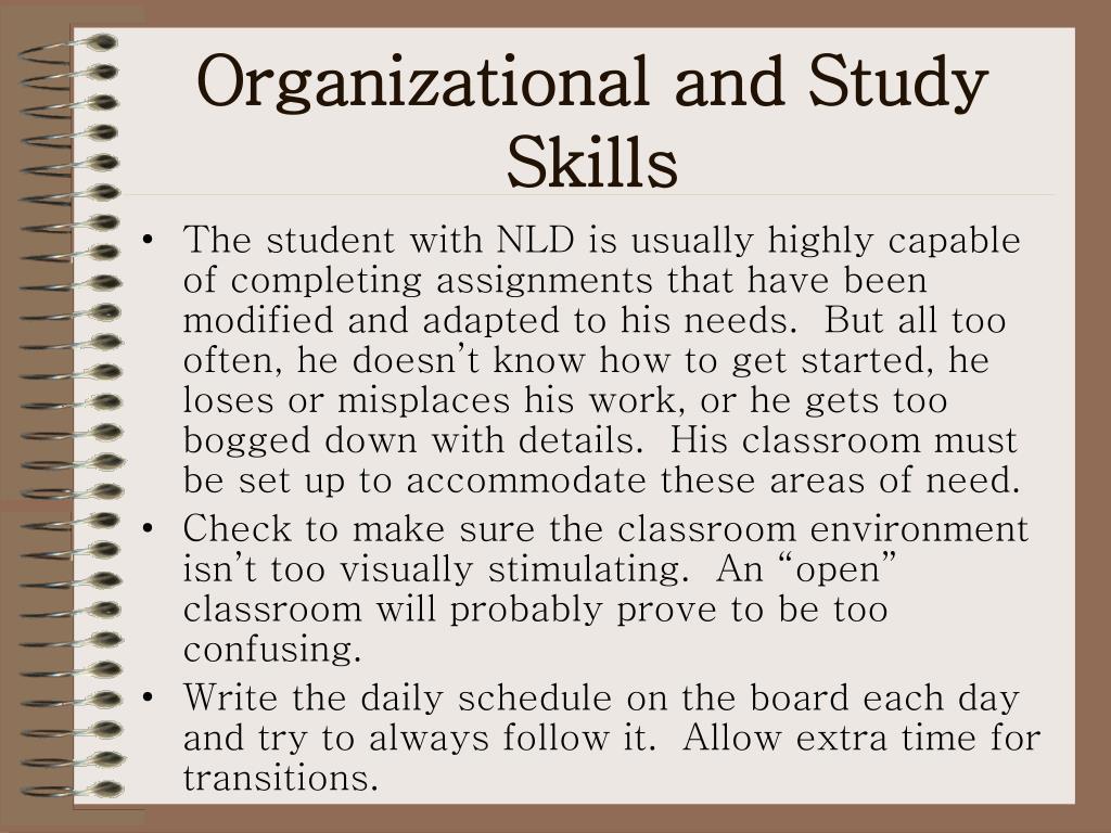 Organizational and Study Skills