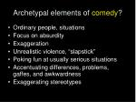 archetypal elements of comedy