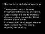 genres have archetypal elements