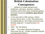 british colonization consequences