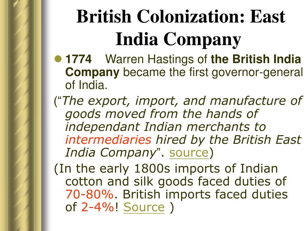 British Colonization: East India Company
