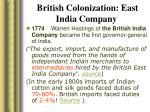 british colonization east india company