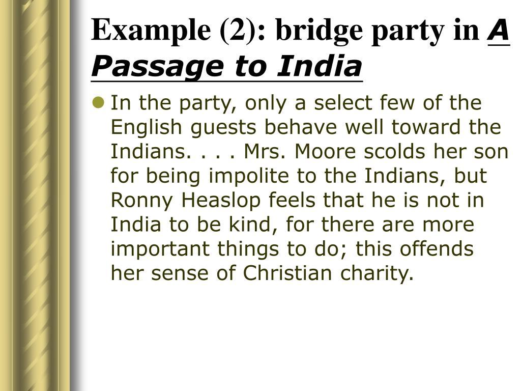 Example (2): bridge party in