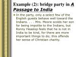 example 2 bridge party in a passage to india