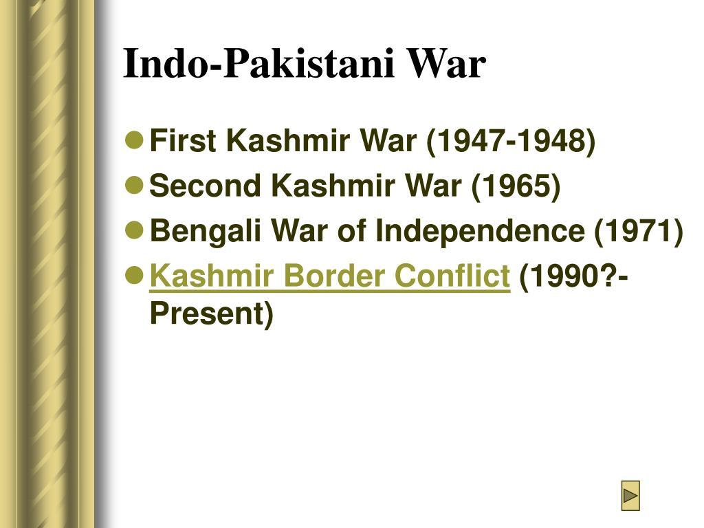 Indo-Pakistani War