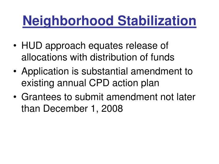 Neighborhood Stabilization