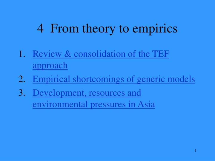 4 from theory to empirics n.
