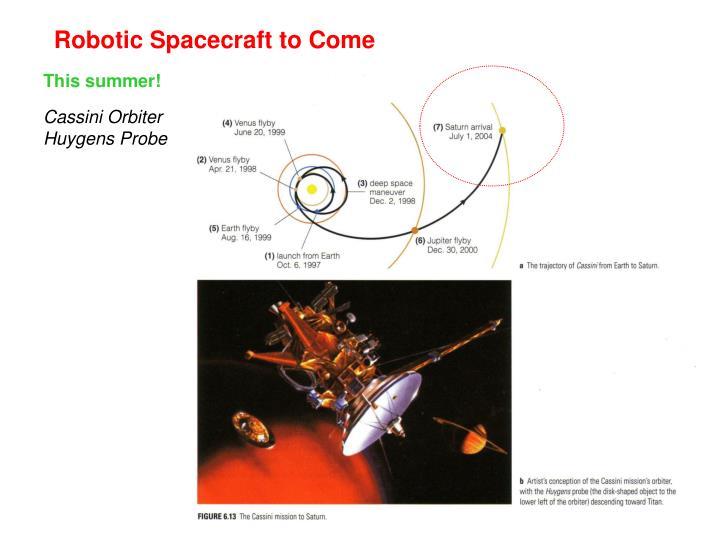 Robotic Spacecraft to Come