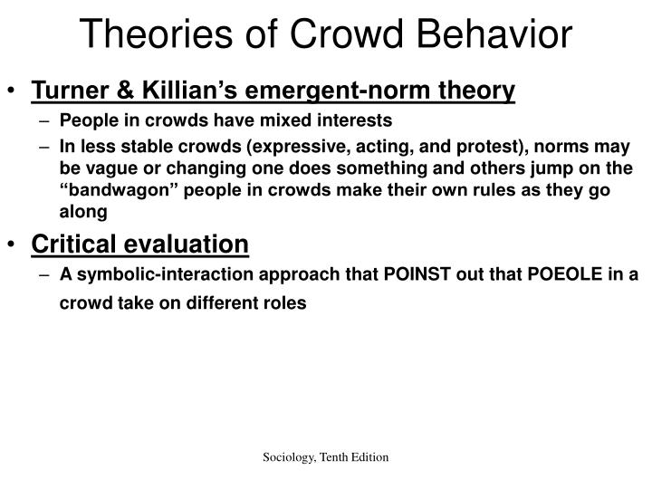 theories of crowd behaviour
