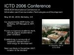 ictd 2006 conference